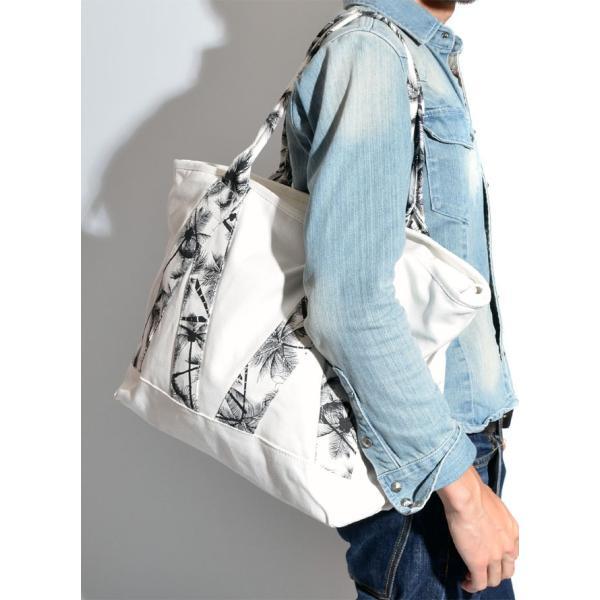 47a48fc25cfc ... トートバッグ デザイン性 鞄 カバン キャンバス地 2way 肩掛け ショルダー カジュアル アウトドア 黒 紺 白 ...