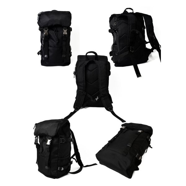 6fe04cde9c65 ... リュックサック デイパック バックパック 鞄 カバン 合皮ベルト フラップ付き カジュアル アウトドア 旅行 レジャー ...