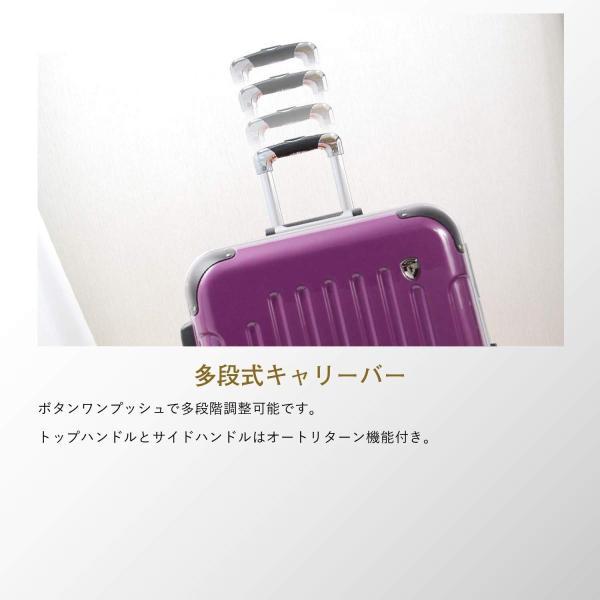 SS型 ダークネイビー / newPC7000 スーツケース キャリーバッグ 機内持ち込み TSAロック搭載 鏡面加工 (1?3日用)