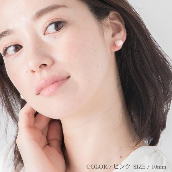ノンホールピアス イヤリング レディース 痛くない パール コットンパール 母の日 樹脂 金属アレルギー   コットンパール 樹脂ノンホールピアス|r-days|11