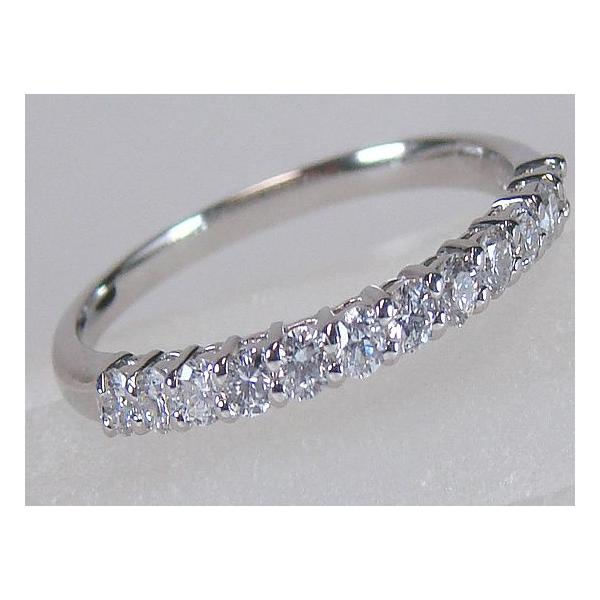 プラチナ 900 ダイヤモンド ハーフエタニティリング 0.30ct