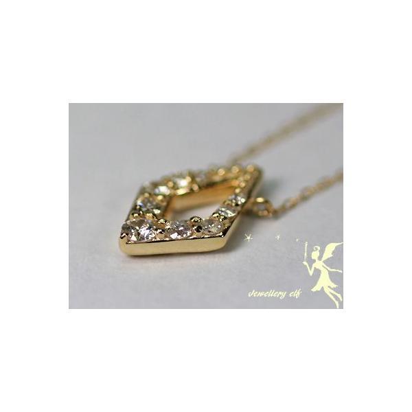 K18選べる地金 ダイヤモンド プチネックレス
