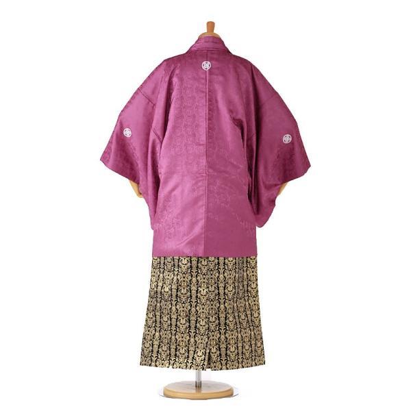 袴レンタル 着物 男 成人式 卒業式 紫系 IAF0006|r-kimonoshop|02