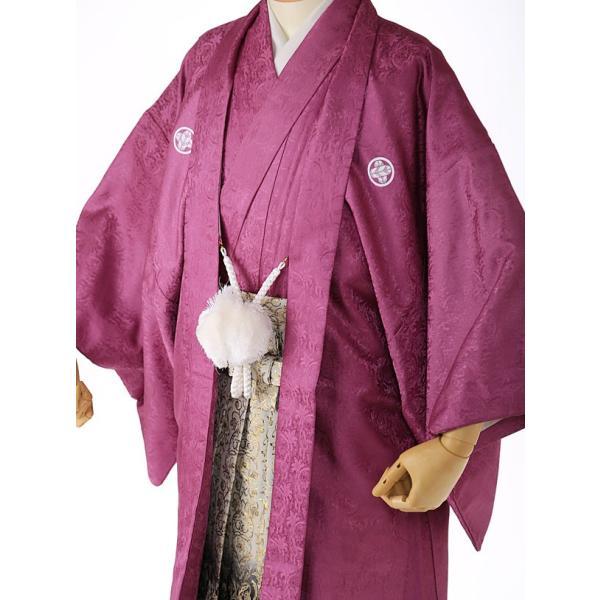 袴レンタル 着物 男 成人式 卒業式 紫系 IAF0006|r-kimonoshop|03