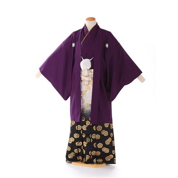 袴レンタル 着物 男 成人式 卒業式 紫系 IAF0008|r-kimonoshop