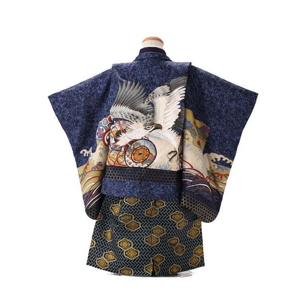 七五三レンタル 3歳 男の子 袴 着物 青系 IAO3010|r-kimonoshop|02
