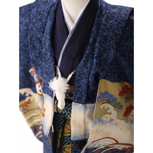 七五三レンタル 3歳 男の子 袴 着物 青系 IAO3010|r-kimonoshop|03