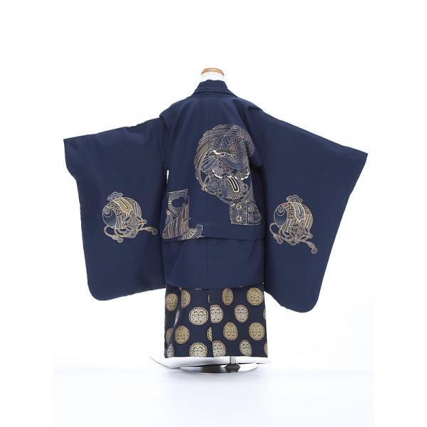 七五三レンタル 5歳 男の子 袴 着物 青系 IAO5013|r-kimonoshop|02