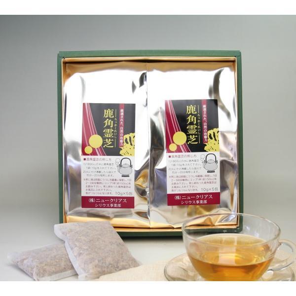 鹿角霊芝 刻み茶(原木栽培鹿角霊芝)100g(10g×5包 2袋入り)|r-kinokoen