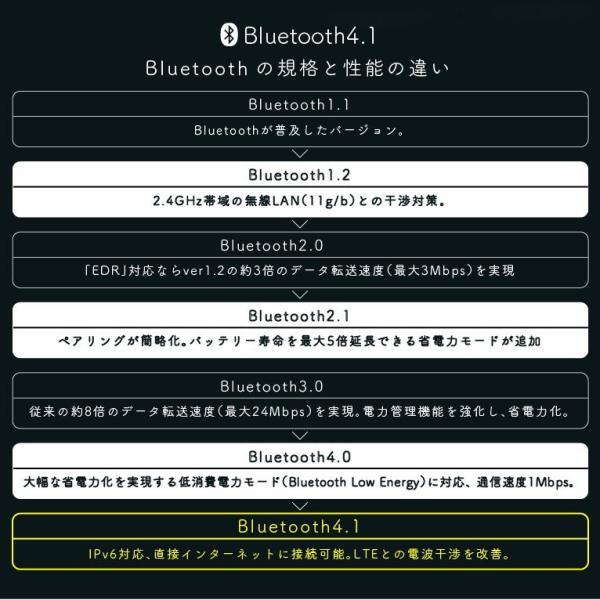 Bluetooth イヤホン ブルートゥース 4.1 ワイヤレス 高音質 iPhone スマホ イヤフォン 両耳  重低音|r-lotus|07