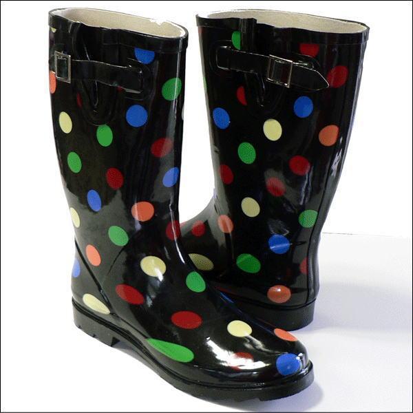 【50%OFF】【大処分セール】 chooka(チューカ) レインブーツ Rain Boots ドット柄(マルチ) ラバーブーツ