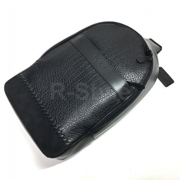 COACH / コーチ チャールズ パック ウィズ ベースボール ステッチ  F11236 メンズ レザー ボディバッグ