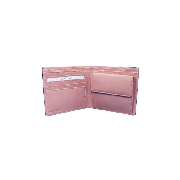 日本製 馬革 コードバン 二つ折り財布 (メンズ コードバン二つ折り財布 小銭入れ有り)Cordovan|r-style|03