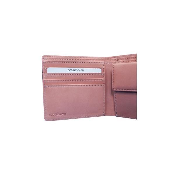日本製 馬革 コードバン 二つ折り財布 (メンズ コードバン二つ折り財布 小銭入れ有り)Cordovan|r-style|05
