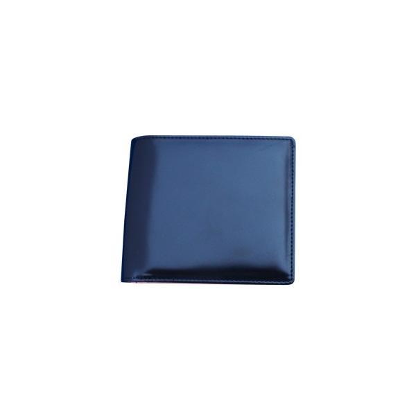 日本製 馬革 コードバン 二つ折り財布 (メンズ コードバン二つ折り財布 小銭入れ有り)Cordovan|r-style|07