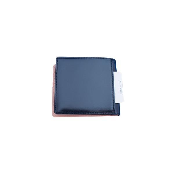 日本製 馬革 コードバン 二つ折り財布 (メンズ コードバン二つ折り財布 小銭入れ有り)Cordovan|r-style|08