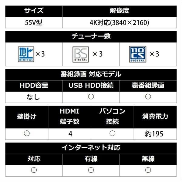 シャープ 55V型 液晶 テレビ AQUOS 4T-C55AJ1 4K Android TV 回転式スタンド 2018年モデル(ネックスピー|rabbit-sakura|18
