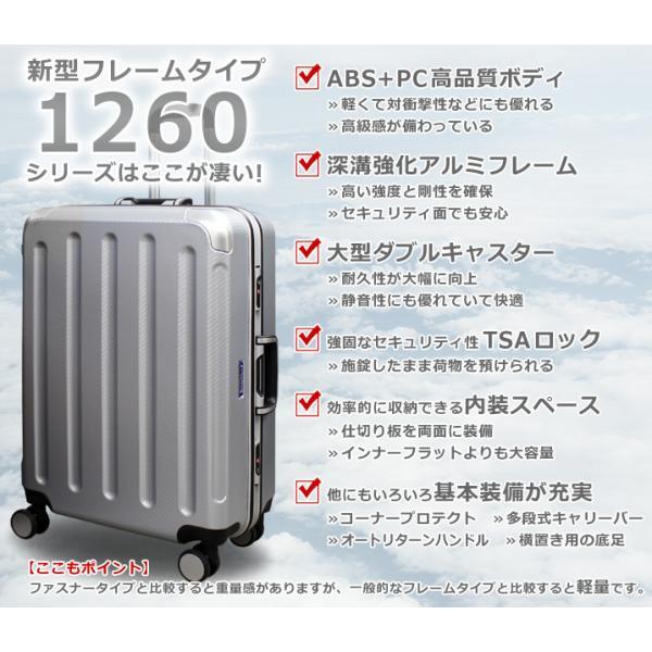 スーツケース キャリーバッグ L サイズ 大型 無料受託手荷物 3辺158cm以内  深溝フレームタイプ Wキャスター TSAロック|rabbittuhan|02