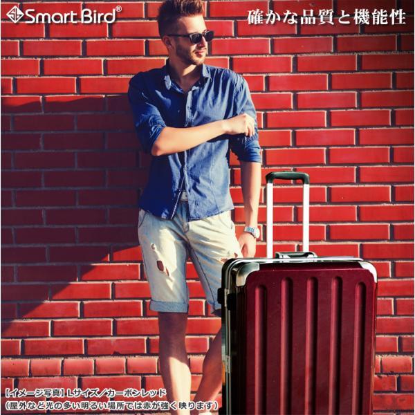 スーツケース キャリーバッグ L サイズ 大型 無料受託手荷物 3辺158cm以内  深溝フレームタイプ Wキャスター TSAロック|rabbittuhan|03