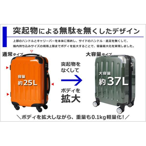 スーツケース 機内持ち込み 軽量 小型 SSサイズ TSAロック キャリーバッグ キャリーケース|rabbittuhan|03