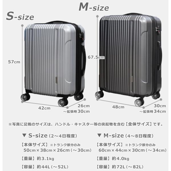 【アウトレット品】スーツケース 大容量 S サイズ キャリーバッグ 小型  超軽量 拡張機能付き 8輪 Wキャスター TSAロック|rabbittuhan|11