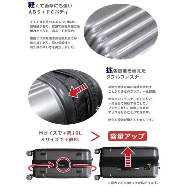 【アウトレット品】スーツケース 大容量 S サイズ キャリーバッグ 小型  超軽量 拡張機能付き 8輪 Wキャスター TSAロック|rabbittuhan|04