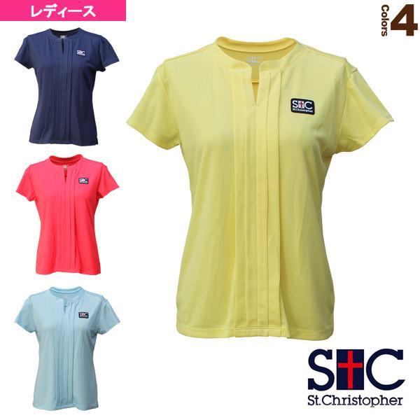 セントクリストファー テニス・バドミントン ウェア(レディース)  プリーテッドゲームシャツ/レディース(STC-BAW2251)