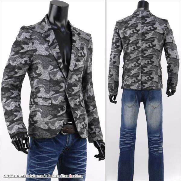 ジャケット メンズ テーラードジャケット 迷彩 カモフラ スリム ウエスト V27120702 rag001 04
