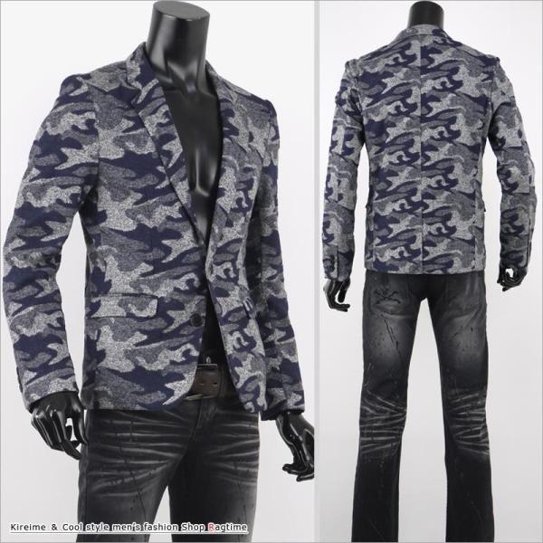 ジャケット メンズ テーラードジャケット 迷彩 カモフラ スリム ウエスト V27120702 rag001 05