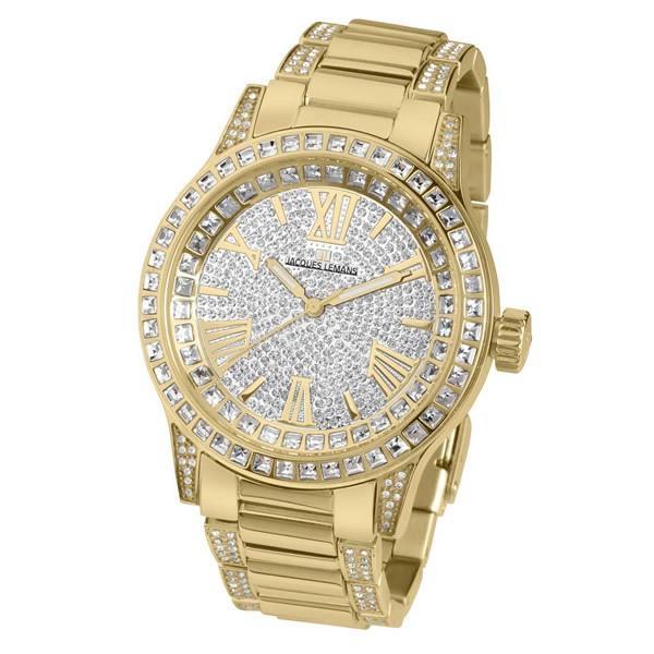【並行輸入品】ジャックルマン JACQUES LEMANS 腕時計 1-1798E レディース Porto ポルト スワロフスキークリスタル クオーツ