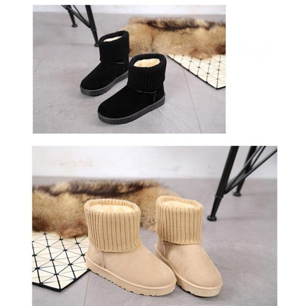 ムートンブーツ スノーブーツブーツ アンクルブーツ ファー付き  ファー ブーツ 防寒ブーツ  裏起毛 防寒靴 滑り防止 保温