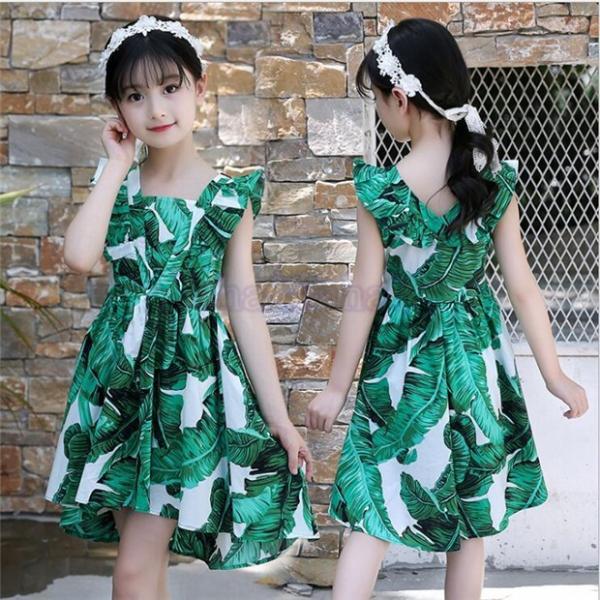 69678029f36a6 子供服 ワンピース キッズ 子ども 花柄 韓国子供服 女の子 女の子 ジュニア 夏用 入園 ...