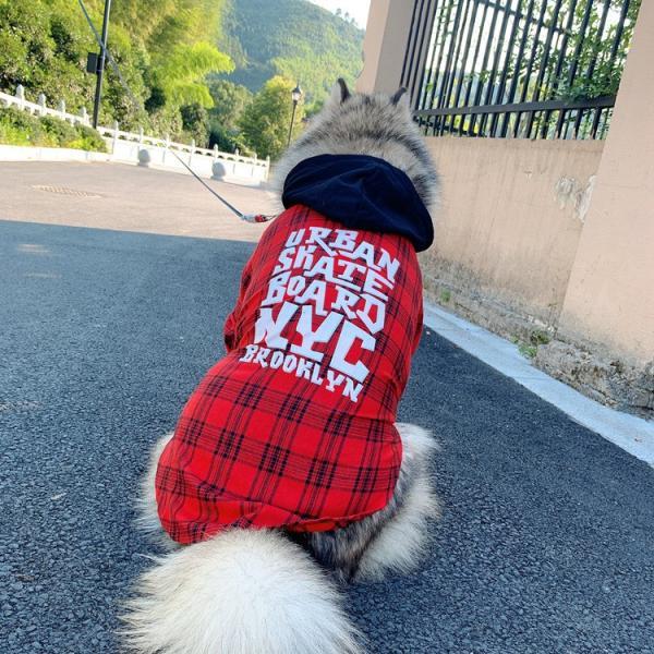 犬とお揃いコーデ 犬 ペアルック チェック柄シャツ 大型犬/小型犬 春夏服 お揃いの服♪ペットとオーナーがペアルック出来る♪お出かけ 飼い主様とお揃い 猫服|rainbow18-store|12