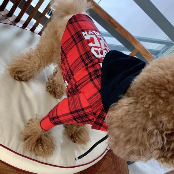 犬とお揃いコーデ 犬 ペアルック チェック柄シャツ 大型犬/小型犬 春夏服 お揃いの服♪ペットとオーナーがペアルック出来る♪お出かけ 飼い主様とお揃い 猫服|rainbow18-store|06