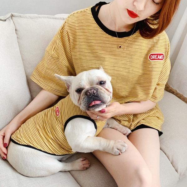 犬 お揃いコーデ 犬とお揃い 犬 ペアルック 犬の服 ペット親子お揃い♪ペットとオーナーがペアルック出来る♪Tシャツ 犬とペアルック 犬服親子 ドッグウェア|rainbow18-store