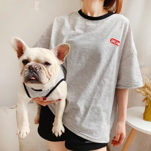 犬 お揃いコーデ 犬とお揃い 犬 ペアルック 犬の服 ペット親子お揃い♪ペットとオーナーがペアルック出来る♪Tシャツ 犬とペアルック 犬服親子 ドッグウェア|rainbow18-store|03