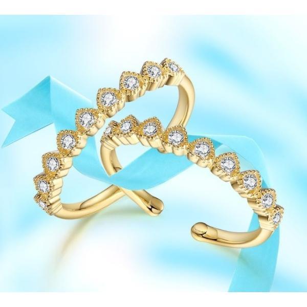 ダイヤ指輪 レディース リング ゴールド ダイヤリング シルバー925 18Kコーティング CZダイヤ 人気 ホワイトデー お返し プレゼント