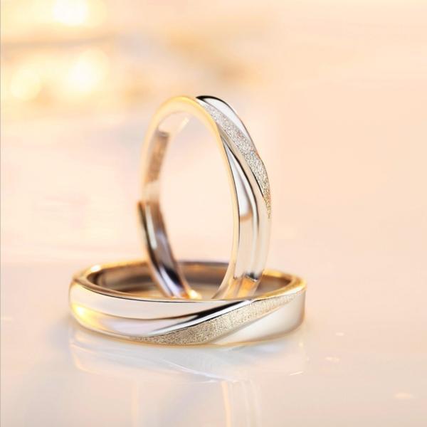 ペアリング通販 2本セット シンプル フリーサイズ 指輪 シルバー925 プラチナ仕上げ 激安ペアリング 人気 結婚指輪 プレゼント