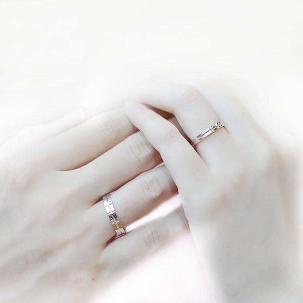 指輪 レディース ペアリング ダイヤ 一粒 クロス I MISS YOU シルバー925 プラチナ仕上げ 人気 ホワイトデー お返し プレゼント