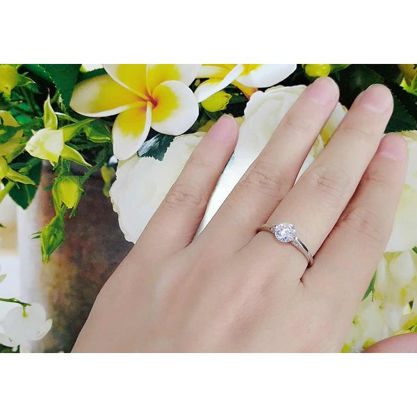 指輪 ダイヤ CZ プラチナ 一粒 上品リング  yu928e 入学 花見 お祝い ギフト