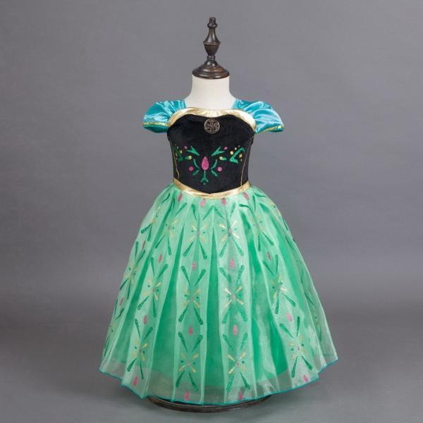 703f9fdc2c040 アナ姫 プリンセス 子供 ドレス キッズ ワンピース コスチューム なりきり ハロウィン コスプレ ベビーレス 女の子 半袖 KID241