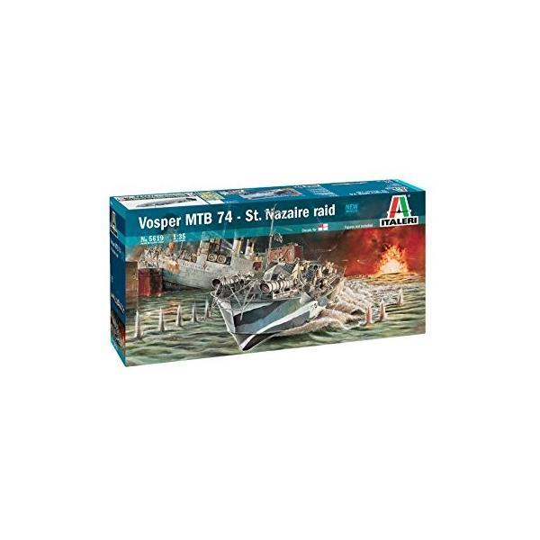イタレリ 5619 1/35 イギリス海軍 魚雷艇 ボスパー MTB74 サン・ナゼール強襲(エッチングパーツ付)