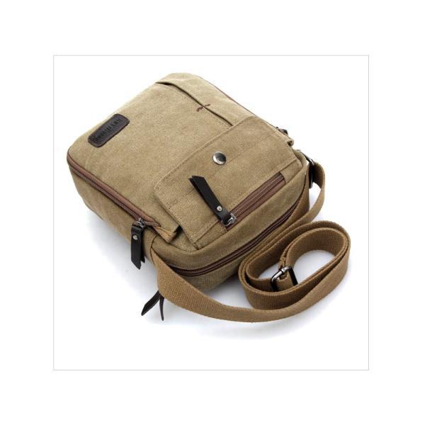 大容量 ショルダーバック サコッシュ 通勤 通学 レジャー バイク用 鞄 カバン 斜めがけ キャンバス 3色 A903(M便)|raisenseshop|12