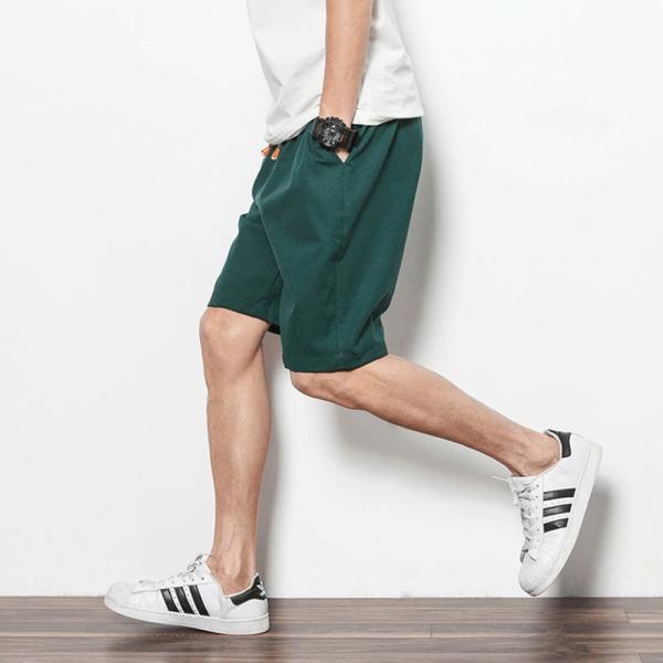 コットンリネン ショートパンツ メンズ 短パン ボトムス 夏 麻 綿 清涼 吸汗 9色 Pant217(メール便送料無料)|raisenseshop|11