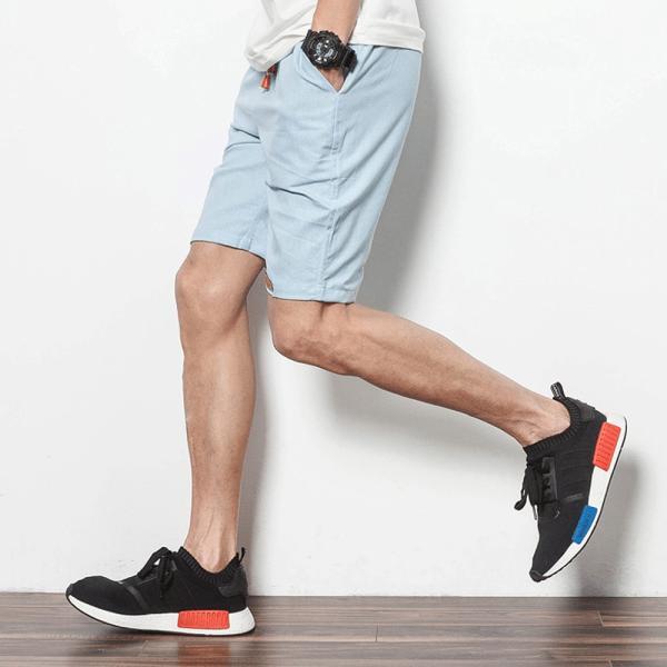 コットンリネン ショートパンツ メンズ 短パン ボトムス 夏 麻 綿 清涼 吸汗 9色 Pant217(メール便送料無料)|raisenseshop|13