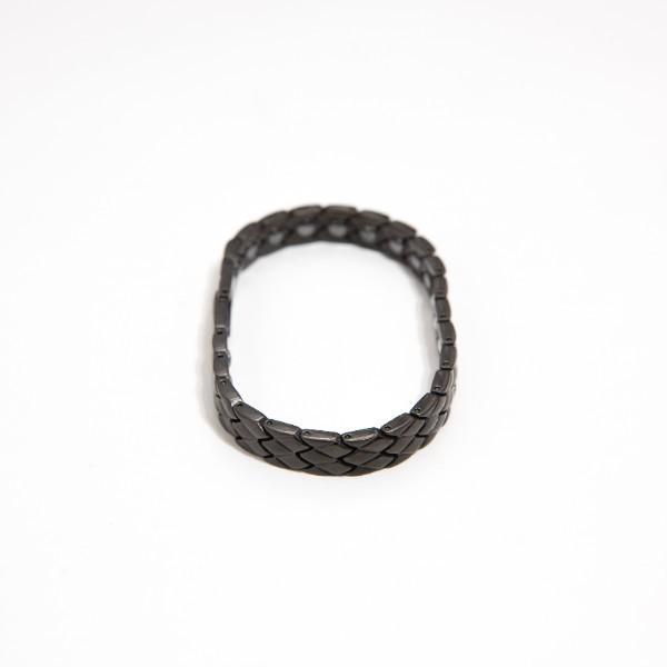Rakii ラキー ゲルマニウムブレスレット レディース 純度99.99 ステンレス ヘマタイト ブラック rakii 02