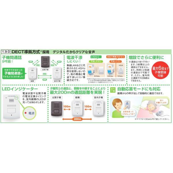 (送料無料)DXアンテナ ワイヤレスインターホン(親機・玄関子機セット) DWP10A1|rakurakumarket|02