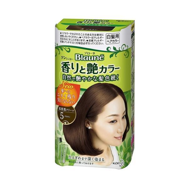 花王 ブローネ 香りと艶カラー クリーム 5:ブラウン|rakushindenki