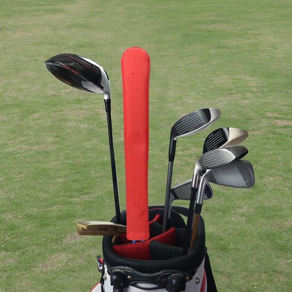 アライメントスティックカバー ツアースティック用レザーヘッドカバー ゴルフアクセサリー 手作り ALIGNMENT STICK COVER 4色あり|rakushogolf|05