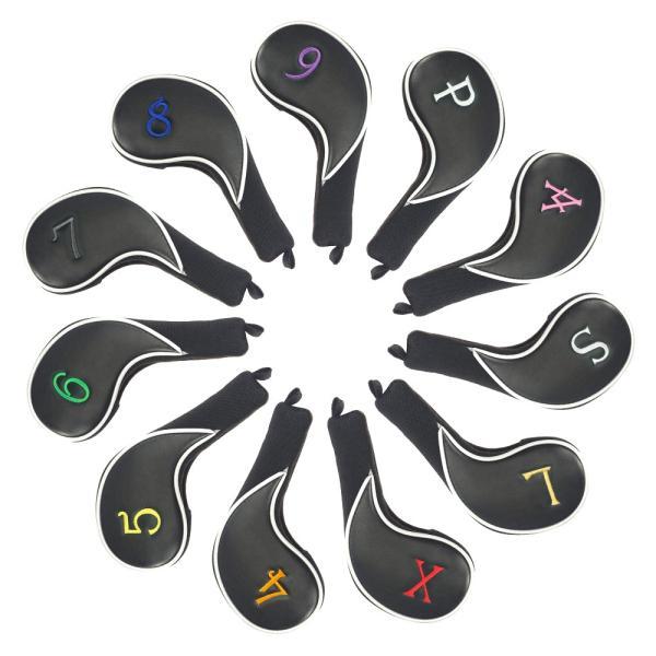NEW!!★税込★CRAFTSMAN クラフトマン アイアンカバー ゴルフヘッドカバー カラフル両面数字刺繍 11枚 /セット左右兼用(4.5,6,7,8,9,A,S,P,L,X)|rakushogolf|09
